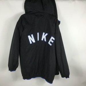 VTG NIKE Spell Out Fleece Lined Sideline Parka XL